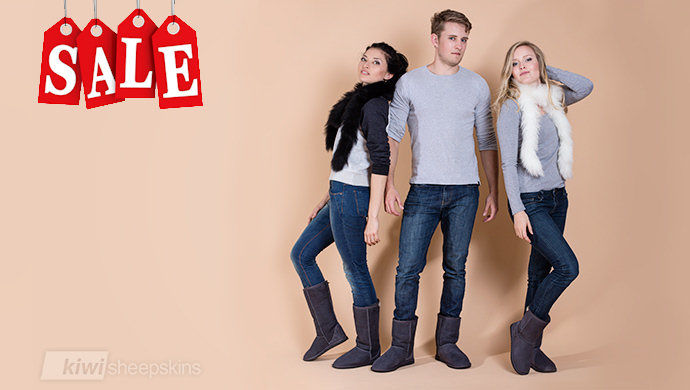 Unisex sheepskin boot