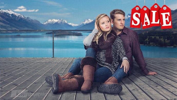 Real sheepskin winter boots