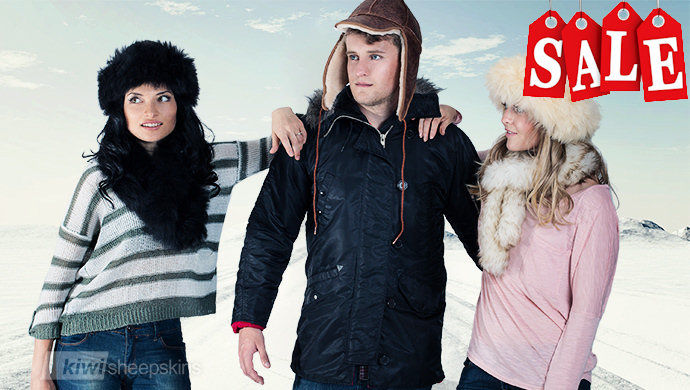 Luxury sheepskin hat for wind and cold