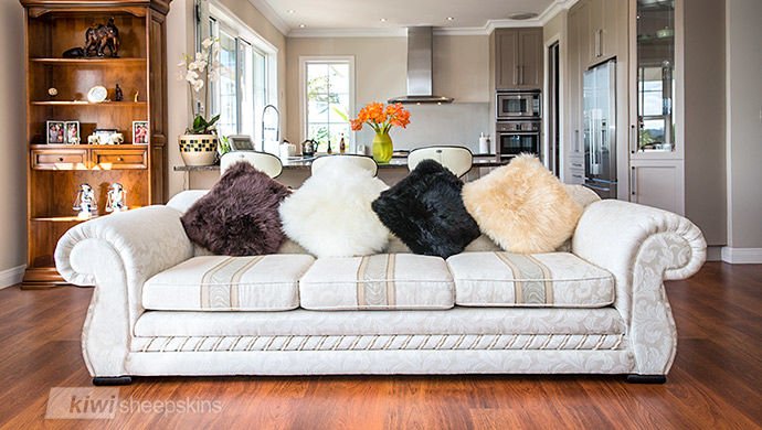 Sheepskin pillow color selection