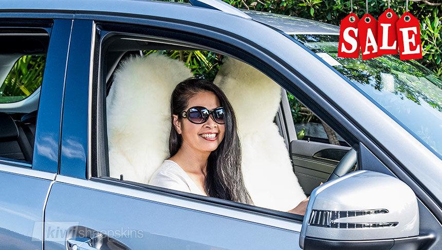 Sheepskin car seat covers warm in winter, cool in summer