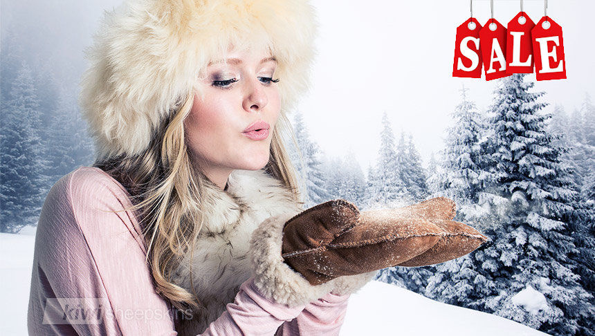 Discover sheepskin mittens and hats