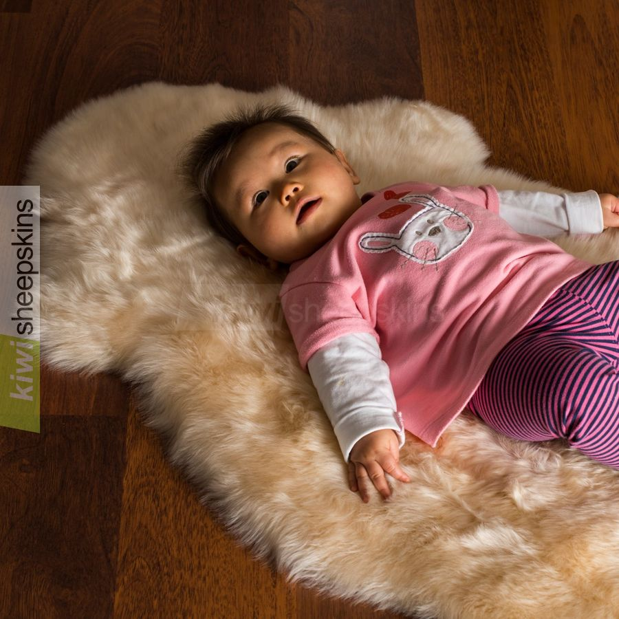 Babies love the silky soft natural lambskin wool fibers