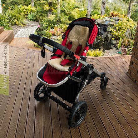Auskin sheepskin baby stroller fleece fitted in buggy/pushchair