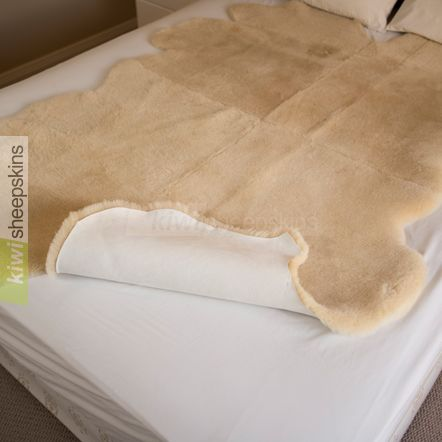 Sheepskin bed pelt reverse hide side