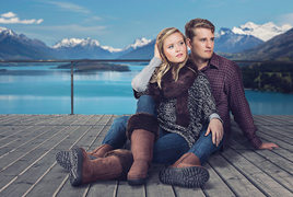 Real sheepskin boots for all the family