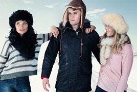 Sheepskin hats and lambskin fashion accessories