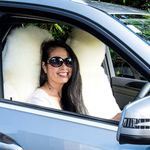 Sheepskin car seat cover - long wool