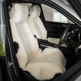 Sheepskin car seat covers - shorn short wool