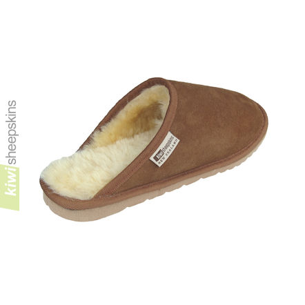 Sheepskin clog slipper - rear view