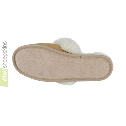 Rolled Collar Scuffs - soft hide sole