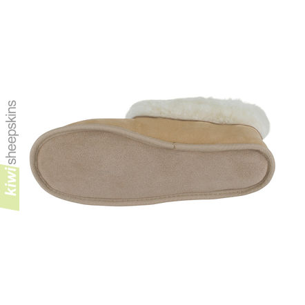 Soft Sole Sheepskin Slippers with indoor hide sole