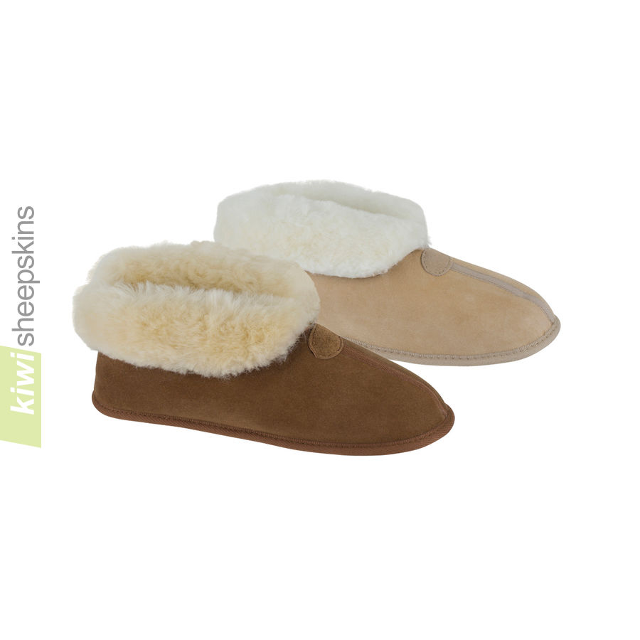 Soft Sole Sheepskin Bootie Slippers