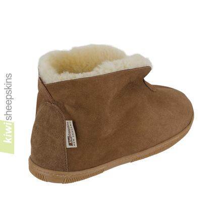 Bootie slippers - Chestnut collar up