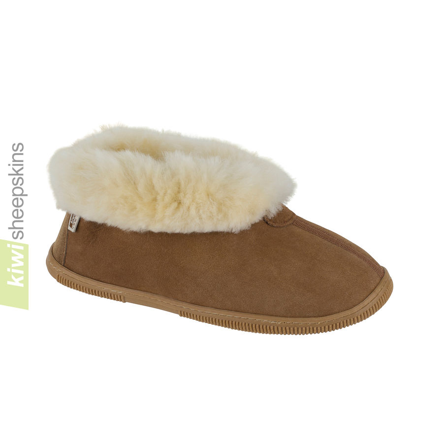 Bootie slippers - Chestnut color