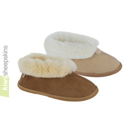 Bootie Sheepskin Slippers - hard sole version