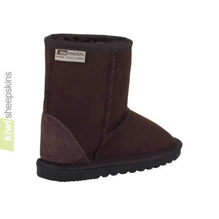 Child Mid Calf - Chocolate rear view