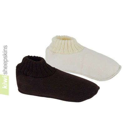 Slipper Socks with Sheepskin
