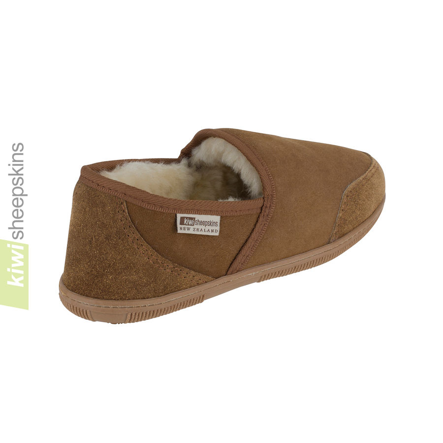 Mens Premium Sheepskin Slippers - rear
