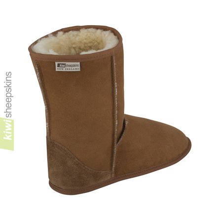 Soft sole sheepskin boots - rear view