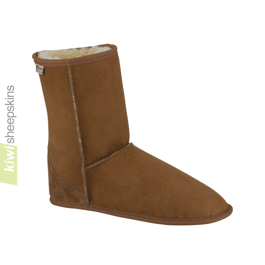 Soft sole sheepskin boots indoor mid calf