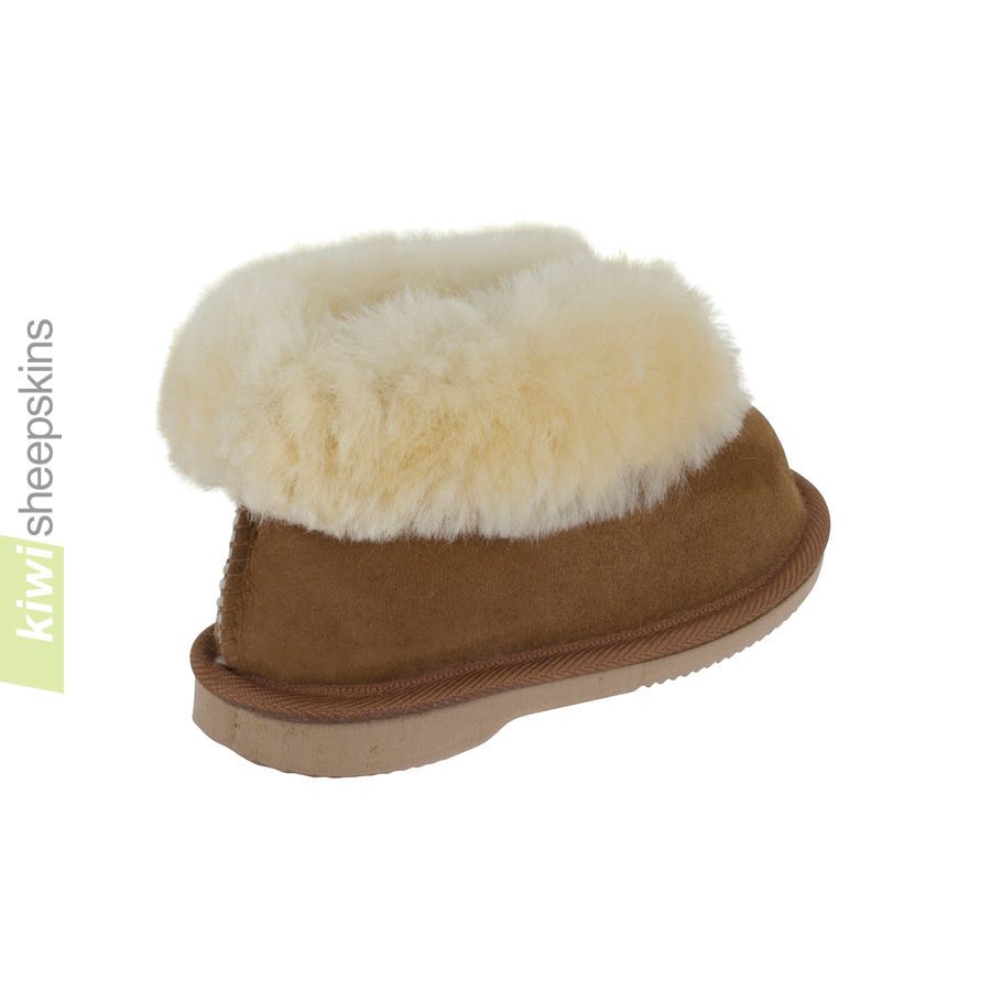 Kids Cute Bootie Style Slippers Sheepskin Slippers