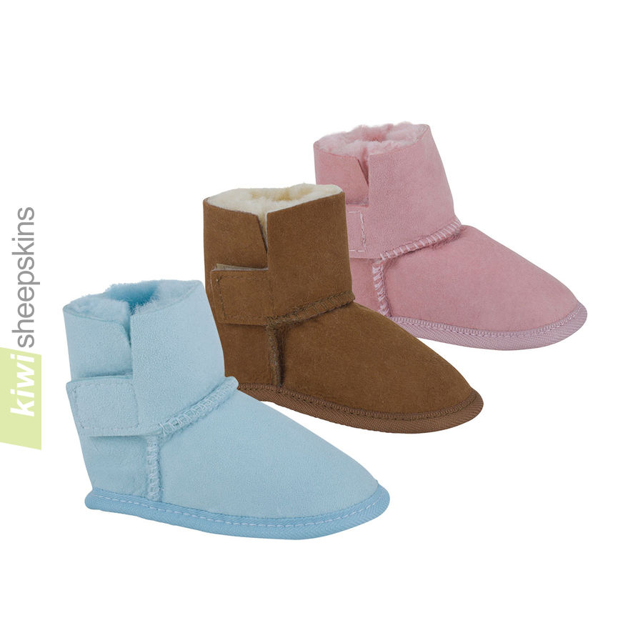 Ezi Fit sheepskin bootees for baby in 3 colors