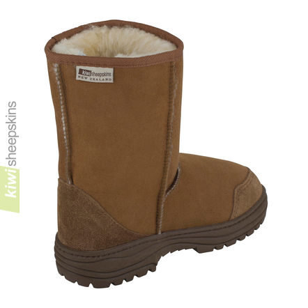 Ultimate mid calf boots - Chestnut rear view