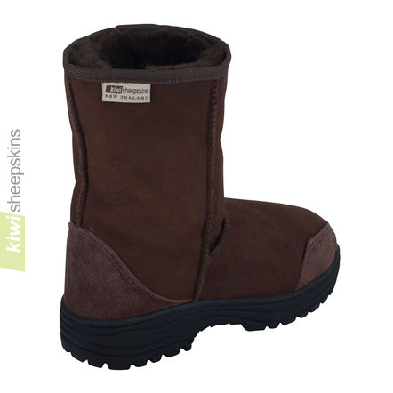 Ultimate mid calf boots - Chocolate rear view