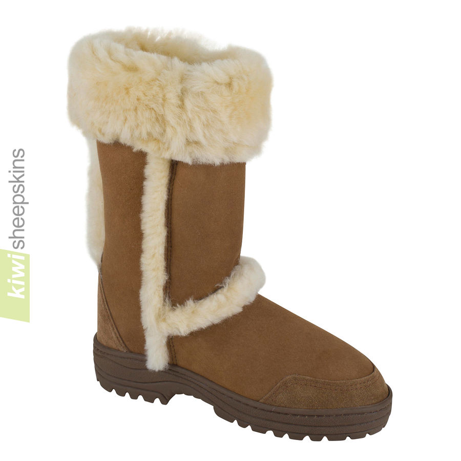 Tall Ultimate spilled wool sheepskin boot