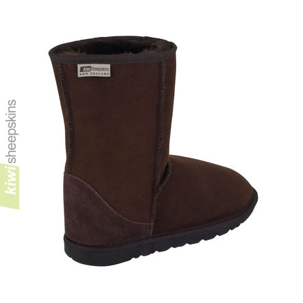 Mid height boot Chocolate - rear view