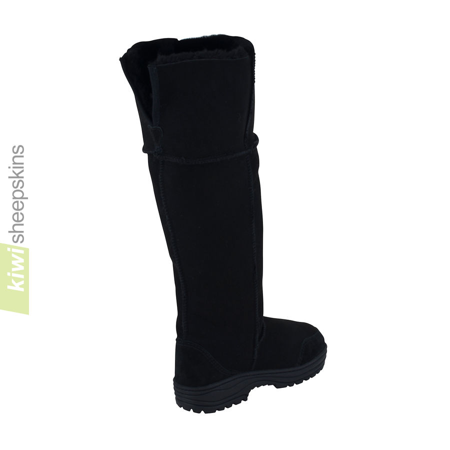 Musketeer boots - Black color - full extended top