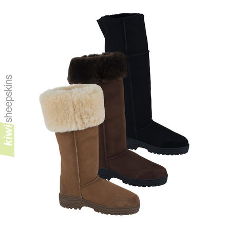 Musketeer sheepskin boot - adjustable boot height
