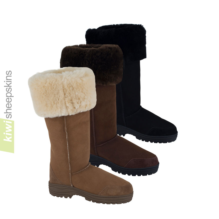Extra tall sheepskin boots Ultimate Musketeer - 3 colors