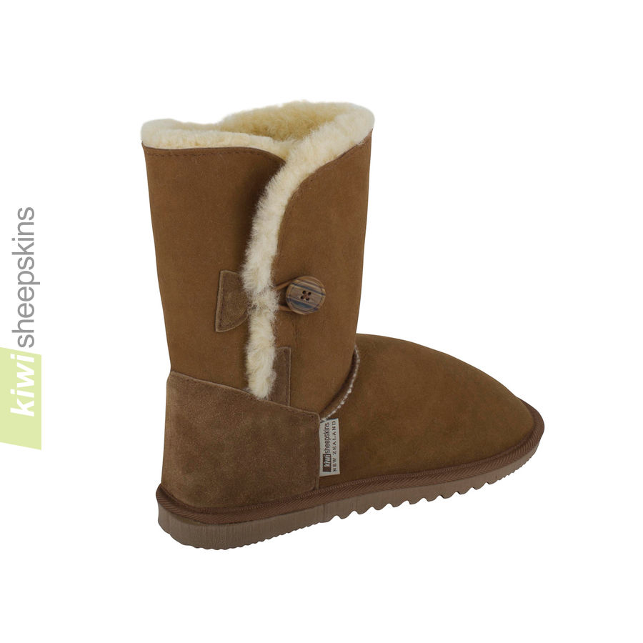 Sheepskin button boots EVA - rear view