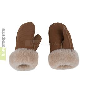 Adult sheepskin mittens