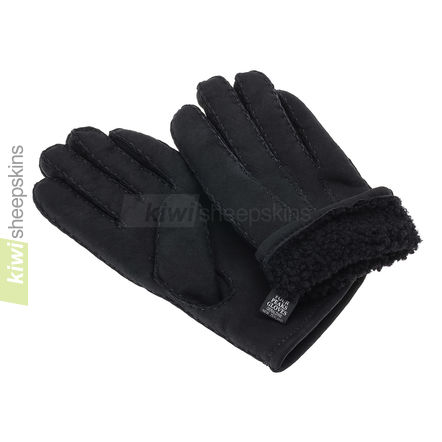 Gloves in Black suede finish