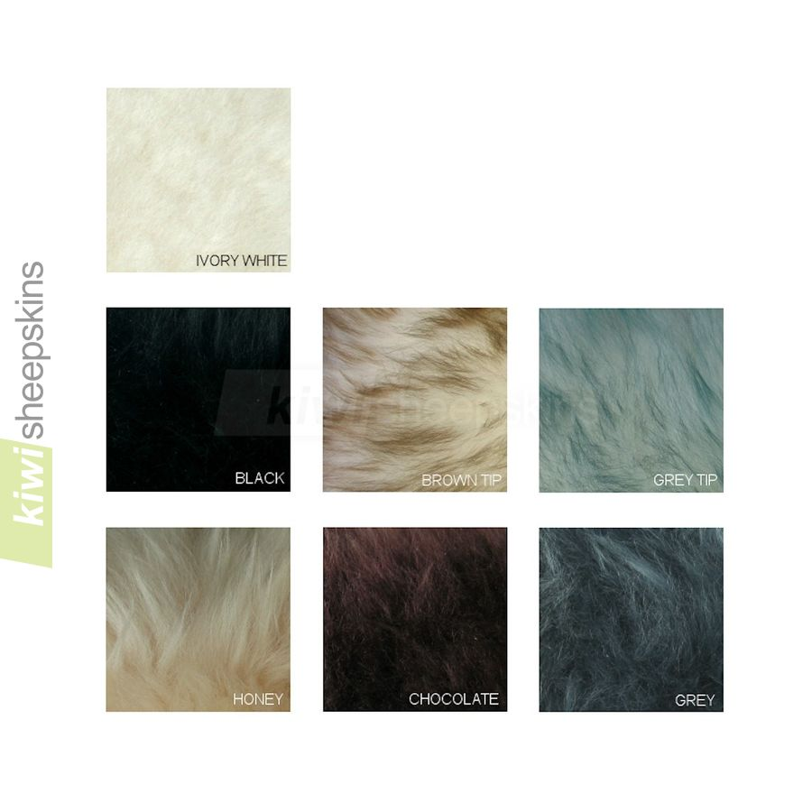 Long wool sheepskin rug colors