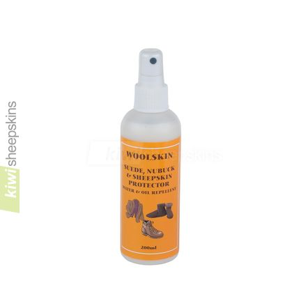 Sheepskin water and stain repellent spray