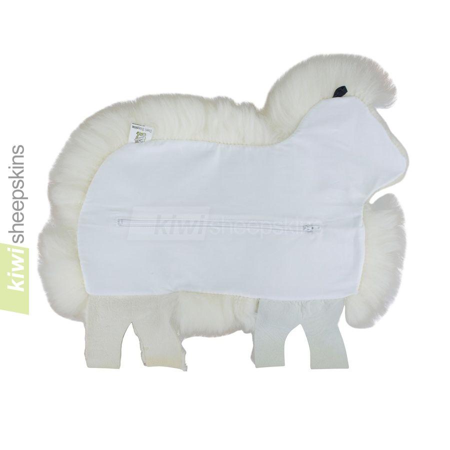 Sheep Shaped Cushion Pillow Made From Real Sheepskin