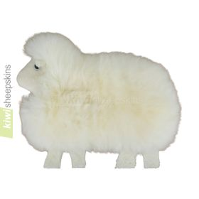 Sheepskin sheep shape cushion