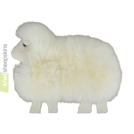Sheepskin sheep shape pillow