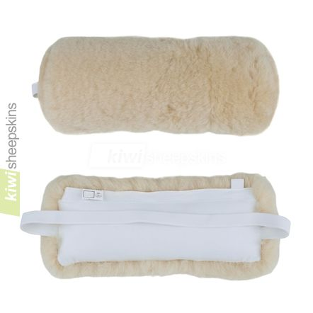 Sheepskin lumbar roll - Honey front and rear