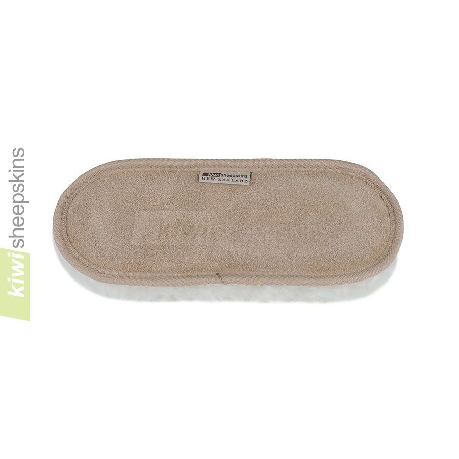 Sheepskin wrist rest pad - leather backing