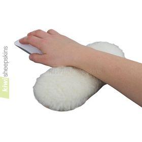Sheepskin wrist rest pad