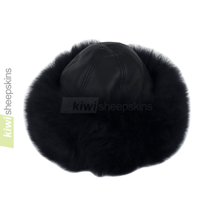 Lara sheepskin hat close up