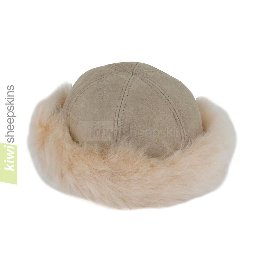 Natasha ladies sheepskin hat - close up