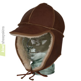 Unisex sheepskin trapper hat