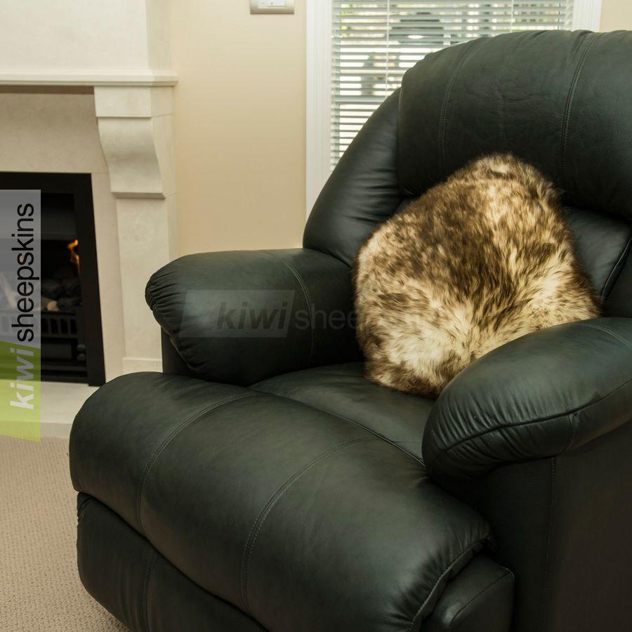 Brown Tip sheepskin pillow/cushion cover
