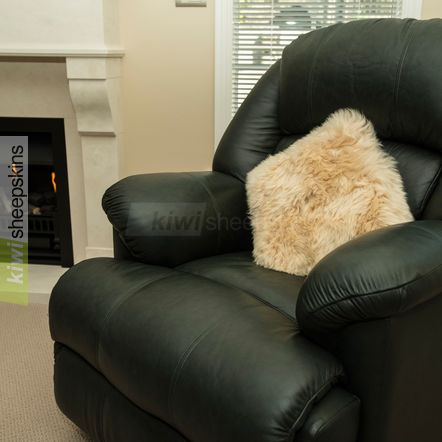 Honey sheepskin pillow/cushion cover